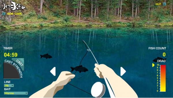 играть в рыбалку кот ловит рыбу